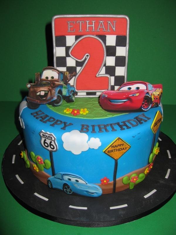 Ethan's 'Cars' Birthday Cake