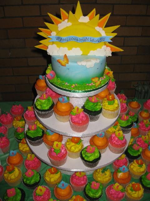 Joey's Fund Raiser Cake & Cupcake Tower