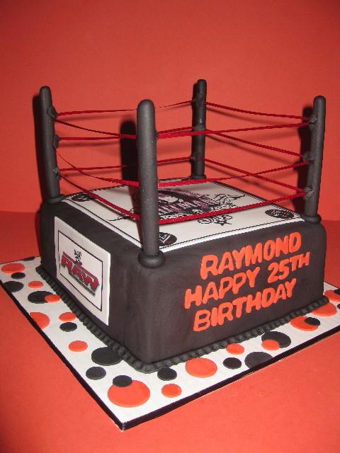 Raymond's Wrestling Ring Cake