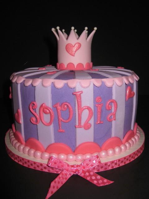 Princess Sophia's Baby Shower Cake