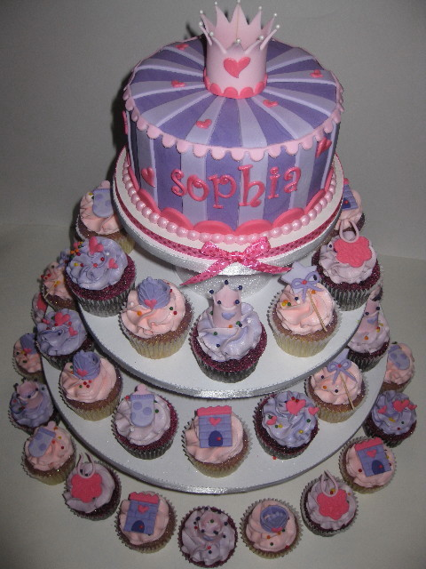 Princess Sophia's Baby Shower Cupcake Tower