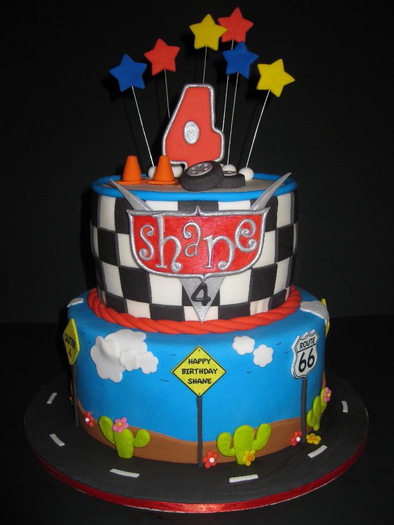 Shane's Car's Birthday Cake