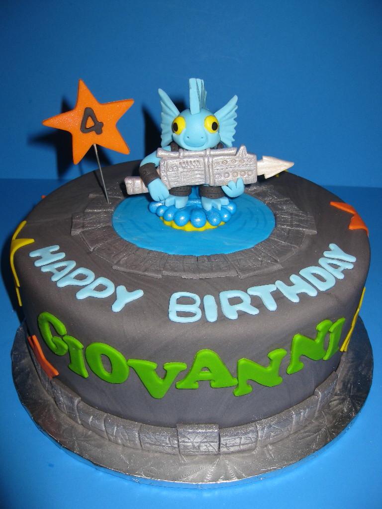 Giovanni's Gill Grunt Skylander Cake
