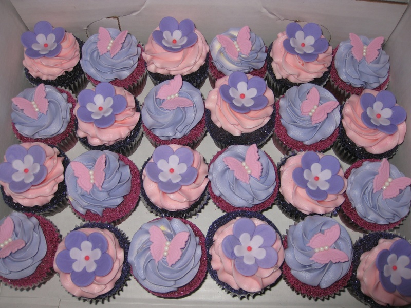 Butterfly U0026 Flowers Baby Shower Cupcakes