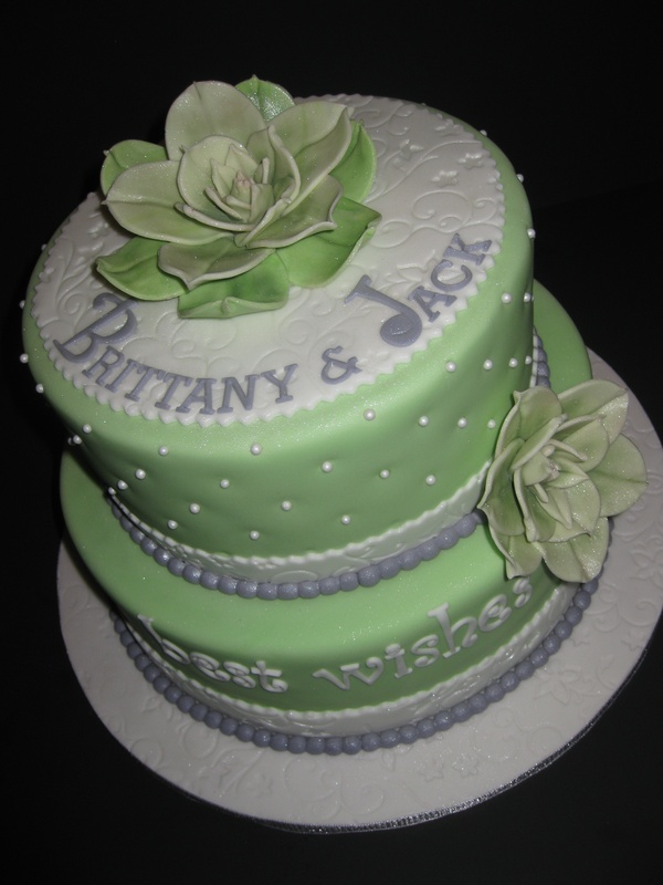Brittany's Bridal Shower Cake
