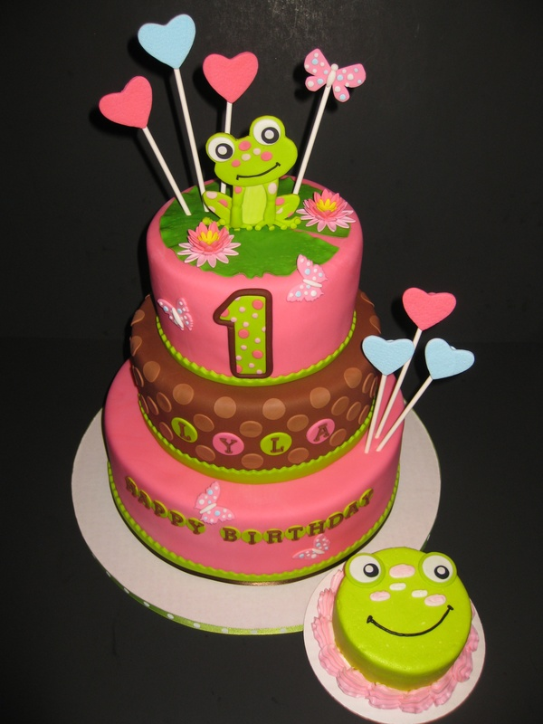 Lyla's Leap Year 1st Birthday Cake & Smash Cake