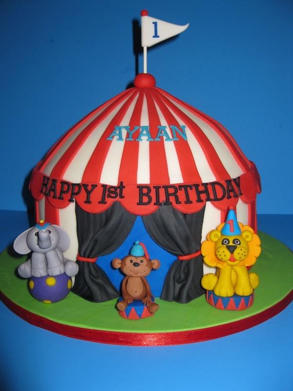 Ayaans Circus Themed Birthday Cake