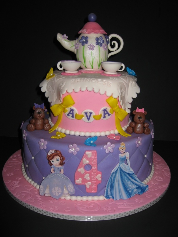 Ava's Princess Tea Party Cake