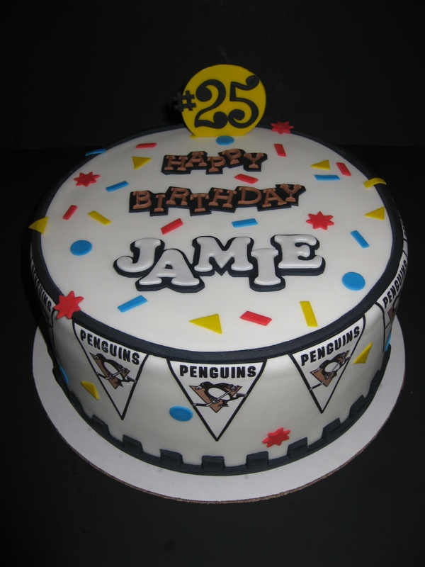 Jamies Pittsburgh Penguins Birthday Cake