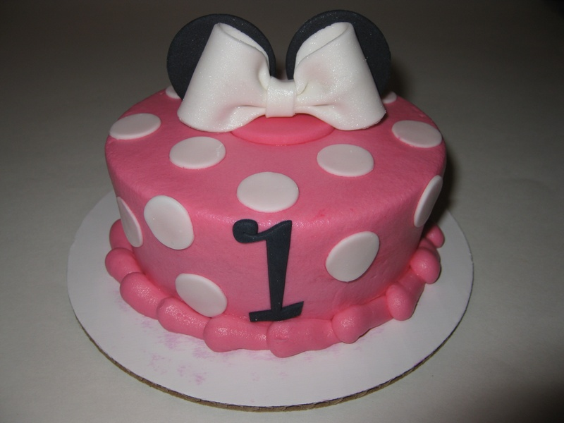 Cake Images With Name Shreya : Shreya s Minnie Mouse Smash Cake
