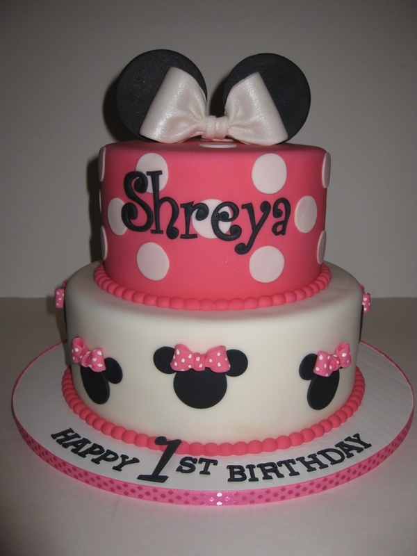 Cake Images With Name Shreya : Shreya s Minnie Mouse 1st Birthday Cake