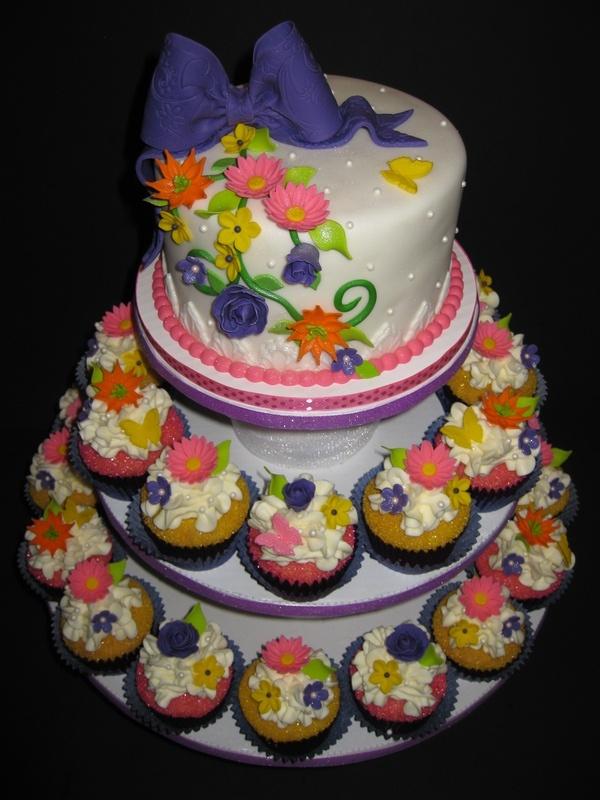 Kristin's Bridal Shower Cupcake Tower