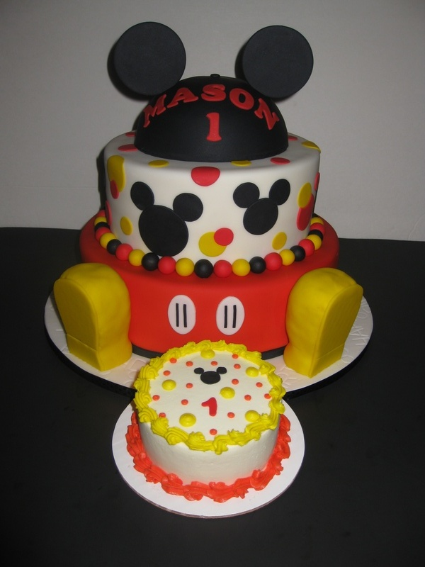 Mason's Mickey Mouse Birthday Cake & Smash Cake