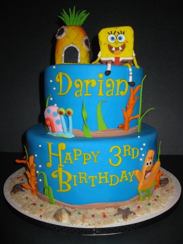 Darian's Sponge Bob Birthday Cake
