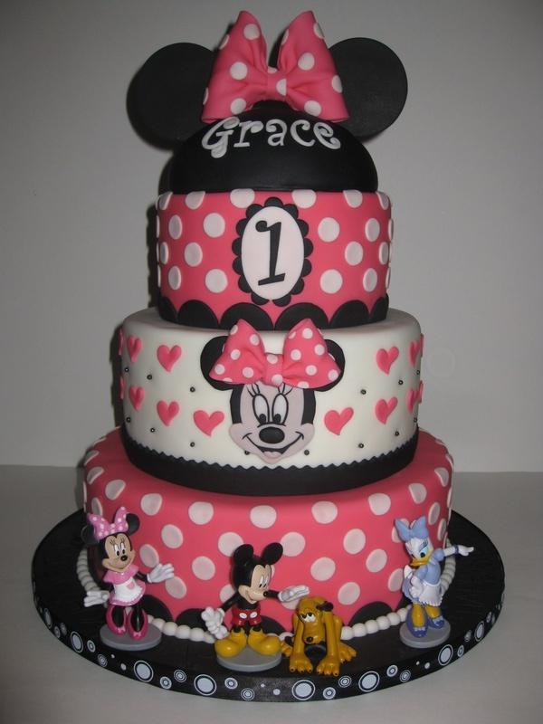 Peachy 1St Birthday Minnie Mouse Cake 1St Birthday Ideas Birthday Cards Printable Benkemecafe Filternl