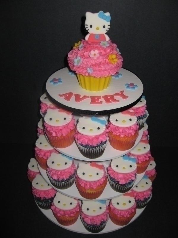 Avery's Hello Kitty Cupcake Display