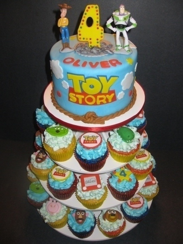 Oliver's Toy Story Cupcake Display