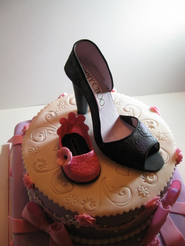 Shana's Jimmy Choo Shower Cake