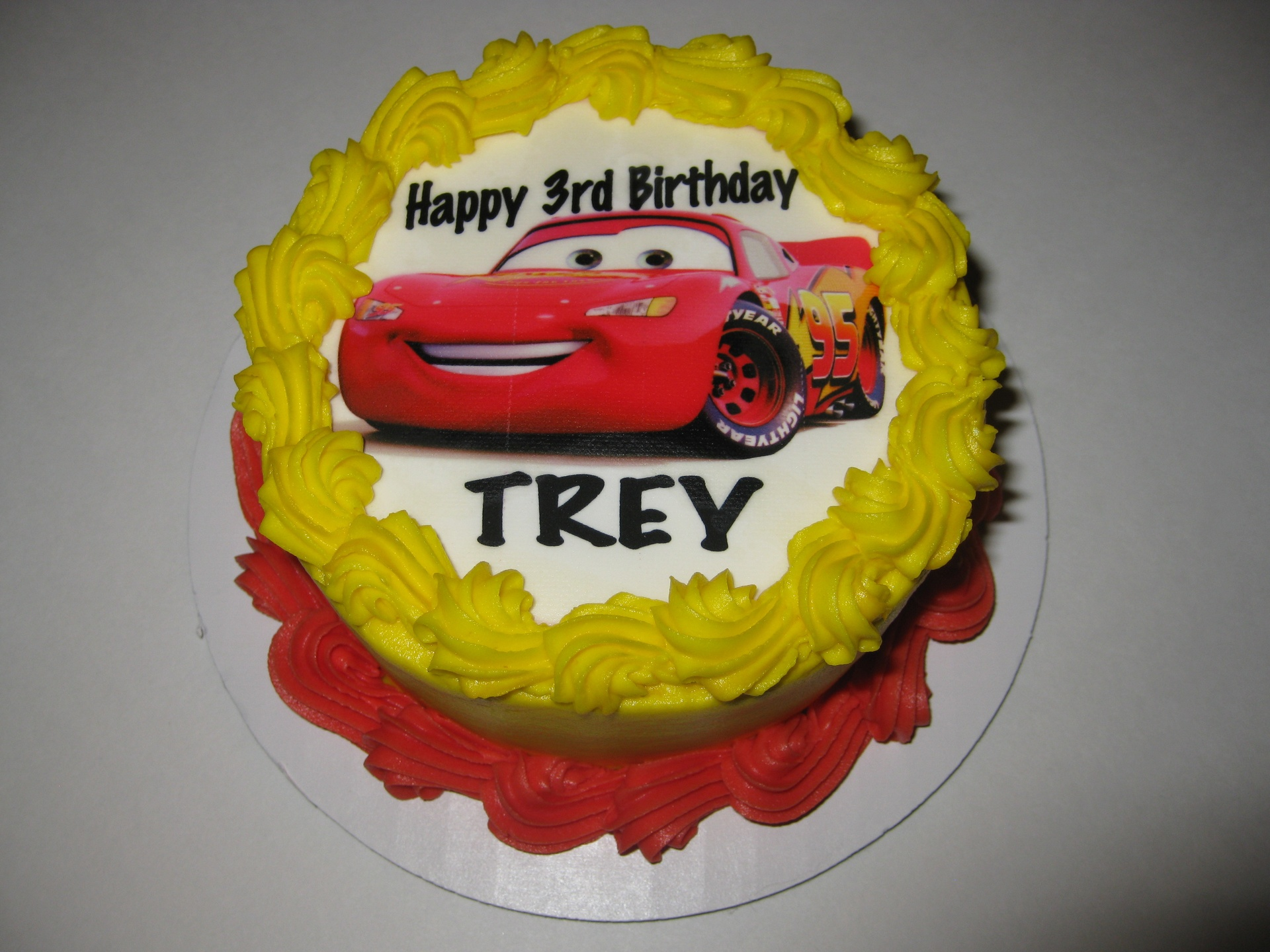 Trey's Cars Smash Cake