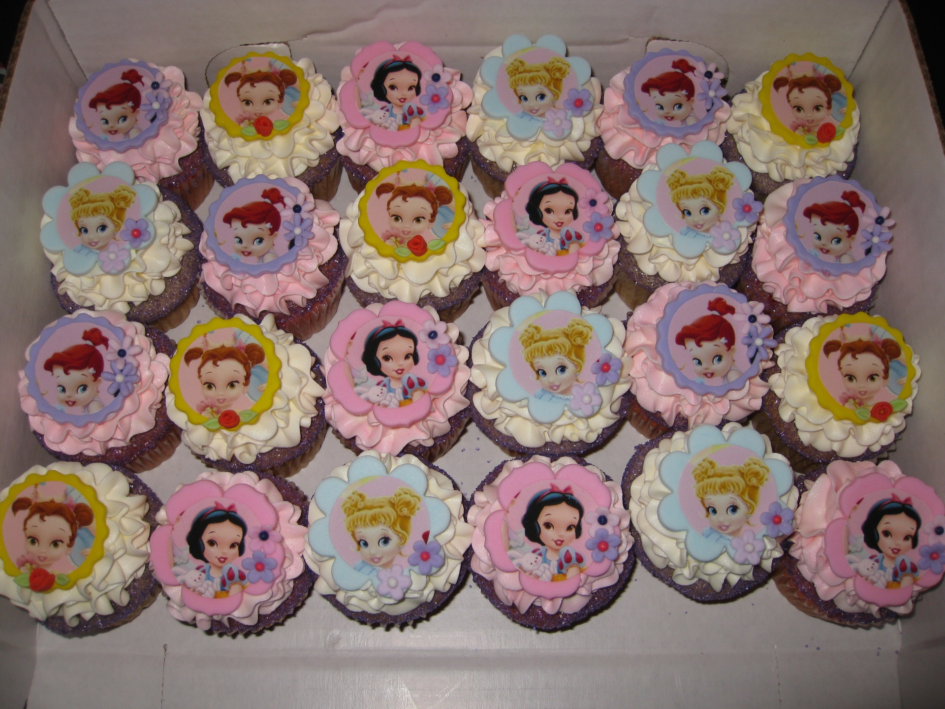 Baby Princess Shower Cupcakes