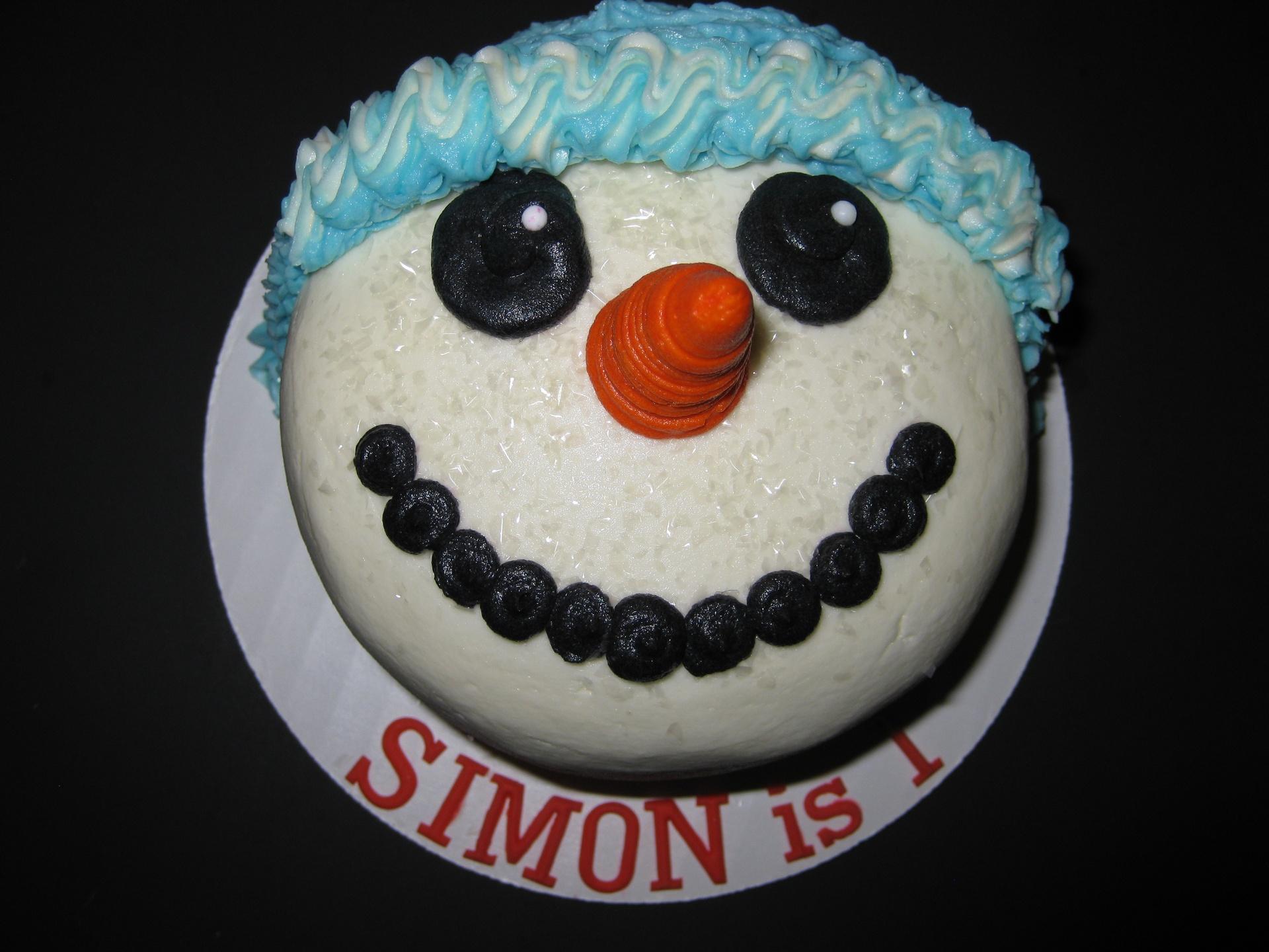 Simon's Snowman Smash Cake