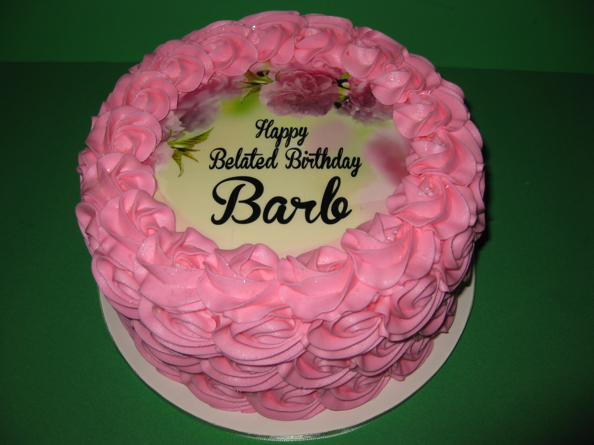 Barb's Belated Birthday Rosette Cake