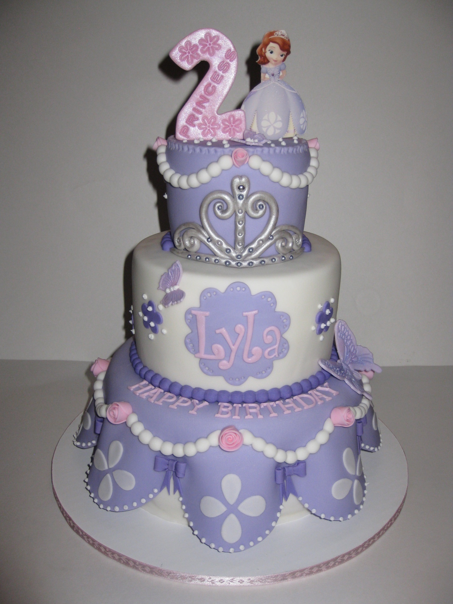 Princess Sofia Themed Birthday Cakes