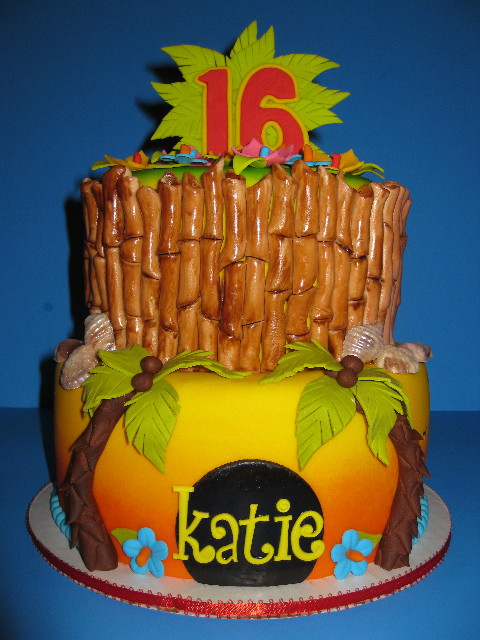 Katie's Tropical Birthday Cake