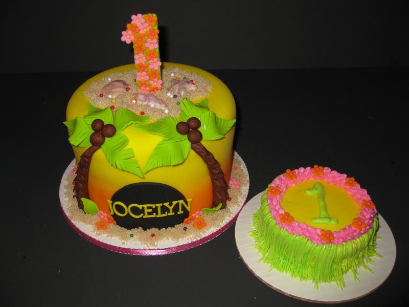 Luau Cake & Smash Cake