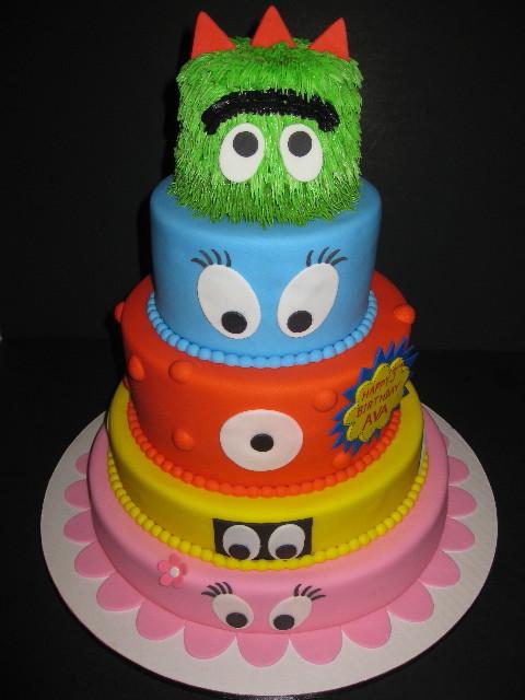 Ava's Yo Gabba Gabba Birthday Cake
